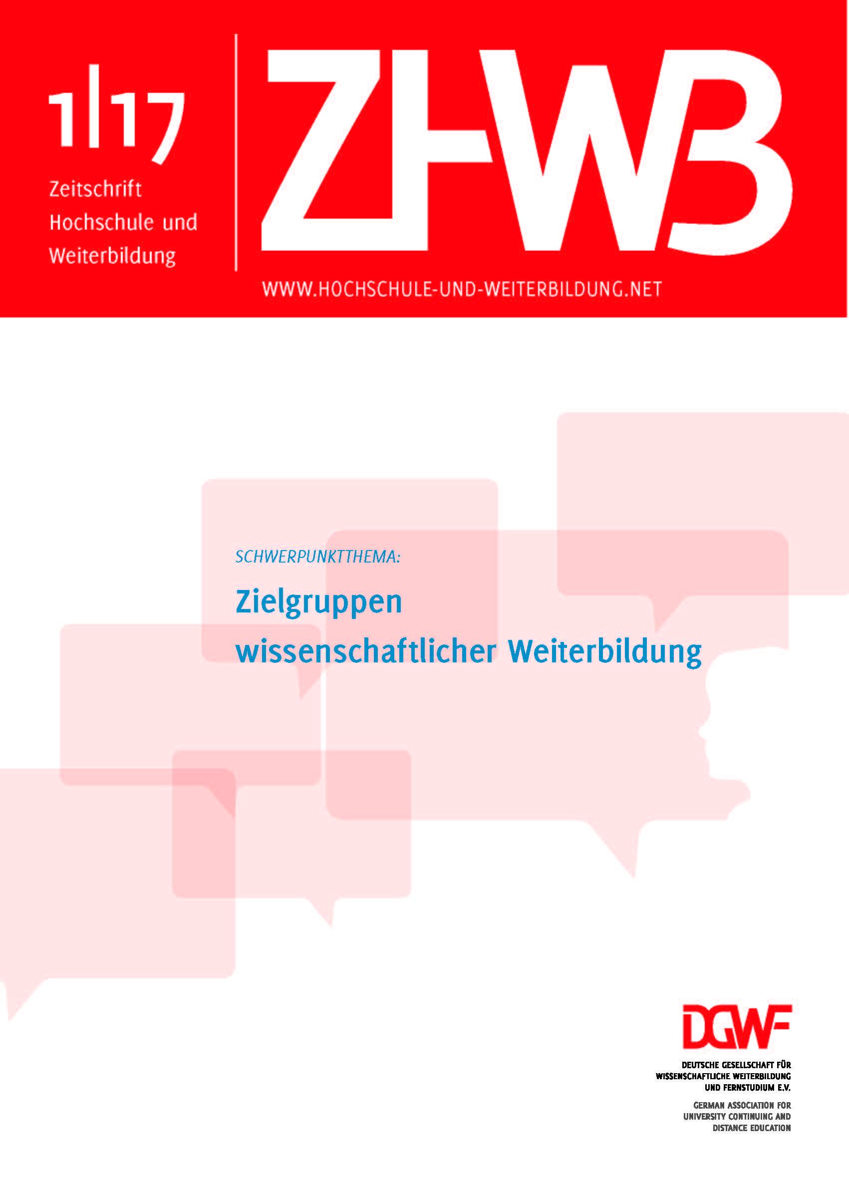 Ansehen 2017/1: Zielgruppen wissenschaftlicher Weiterbildung